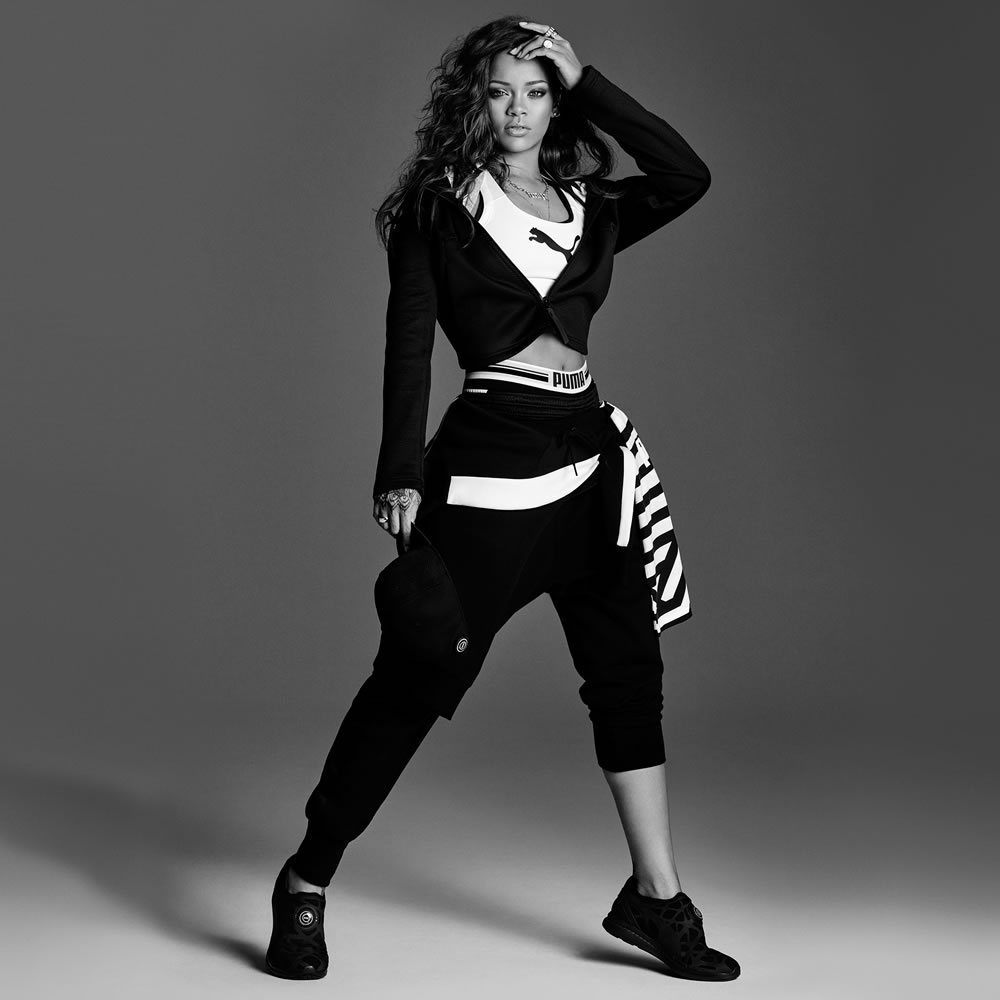25268a001922 These first two photos serve as the campaign images for Puma s PwrShape bra  and the Ignite Disc Sleeve Foam sneakers. Here s a look at a few things  Rihanna ...