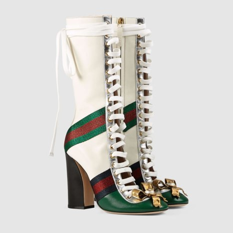 Gucci Finnlay laced-up boots as seen on Rihanna