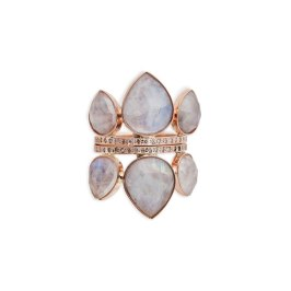 Jacquie Aiche moonstone petal stack ring as seen on Rihanna
