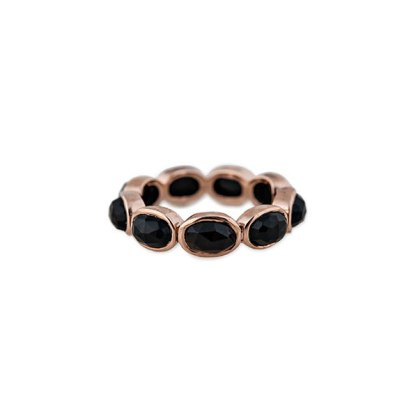 Jacquie Aiche onyx eternity ring as seen on Rihanna