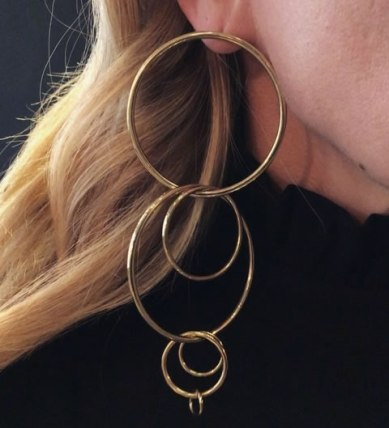 Jennifer Fisher multi hoop earring as seen on Rihanna