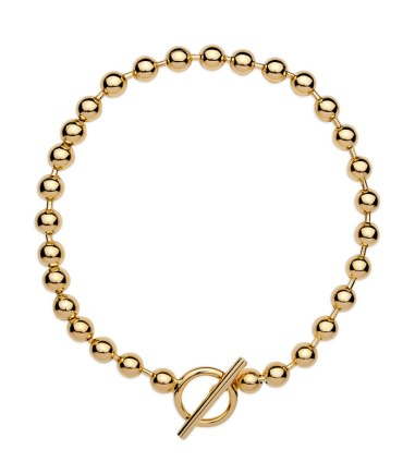 Jennifer Fisher gold orb chain necklace as seen on Rihanna