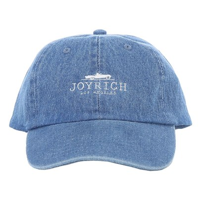 Joyrich iconic logo denim cap in indigo as seen on Rihanna