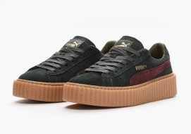 Puma by Rihanna Creeper in Green/Bordeaux