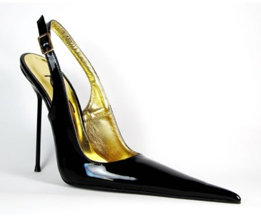 RoSa long pointed toe slingback pumps as seen on Rihanna