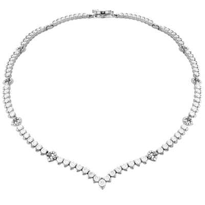 Hearts on Fire Ariel Victorian diamond line necklace as seen on Rihanna