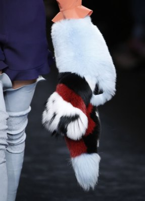 Fendi Fall 2016 fur stole as seen on Rihanna