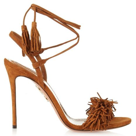 Aquazzura Wild Thing fringe sandals as seen on Rihanna