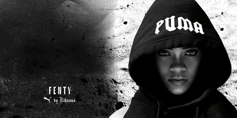 Rihanna Fenty x Pum Fall collection promotional banner