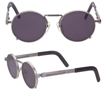 Jean Paul Gaultier vintage 56-8171 round metal sunglasses as seen on Rihanna