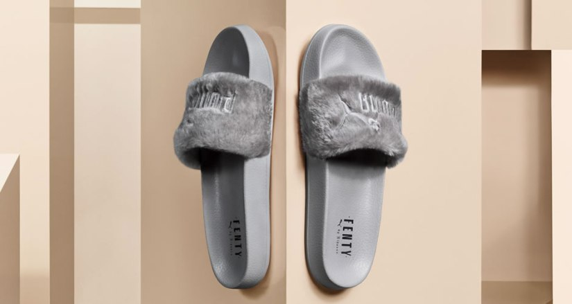 Fenty Puma by Rihanna grey fur slide