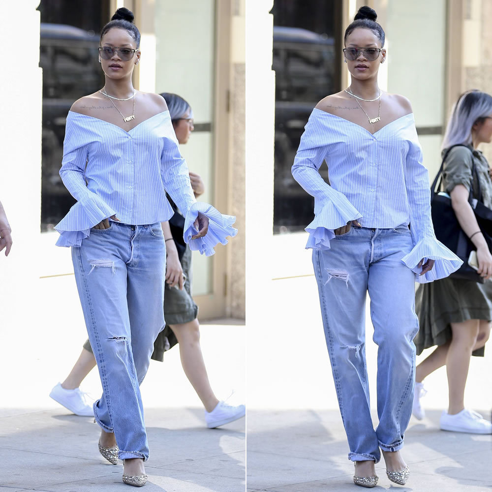 0784f5d819f Rihanna has been a busy woman all week thanks to rehearsals for the MTV  Video Music Awards. Lucky for us it means we get a daily dose of her  incredible ...