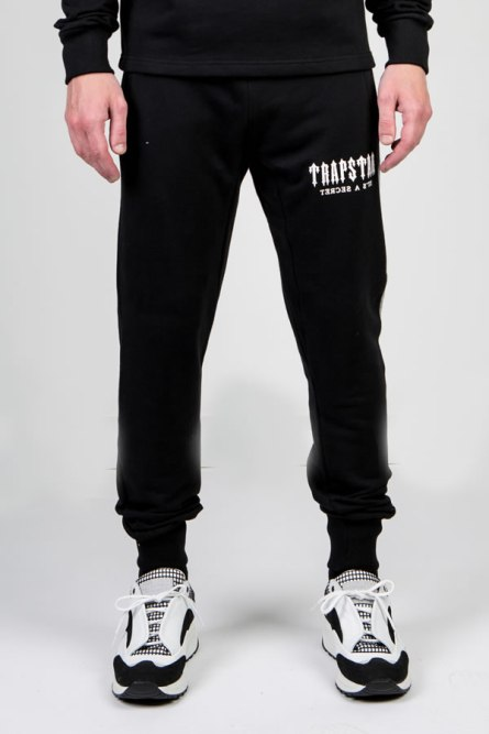 Trapstar side panel black sweatpants as seen on Rihanna