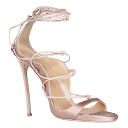 Dsquared2 pink satin Riri sandals as seen on Rihanna