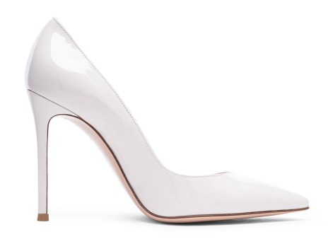 Gianvito Rossi white patent leather Gianvito pumps as seen on Rihanna