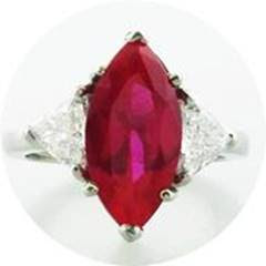 Harry Kotlar ruby and diamond ring as seen on Rihanna