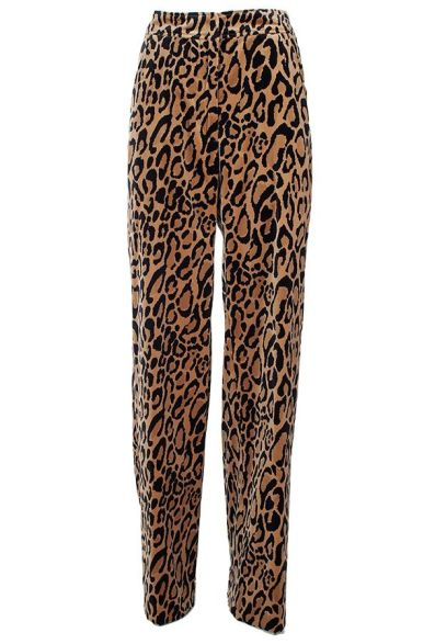 Dries Van Noten leopard print Panter pants as seen on Rihanna