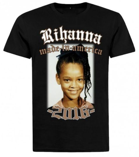 Rihanna Made In America black t-shirt