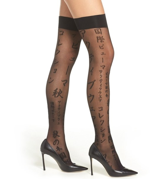 Rihanna x Stance calligraphy stay-up stocking