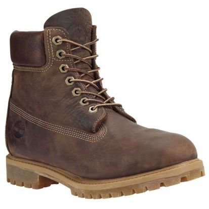 """Timberland Heritage 6"""" waterproof boots in burnished brown as seen on Rihanna"""