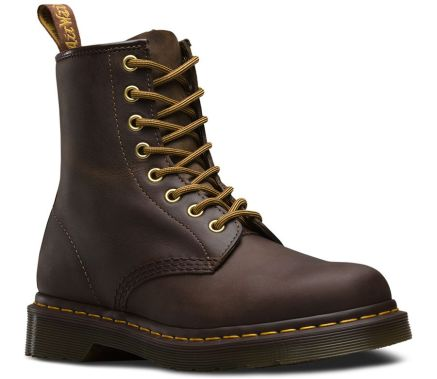 Dr Martens Aztec Crazy Horse brown boots as seen on Rihanna