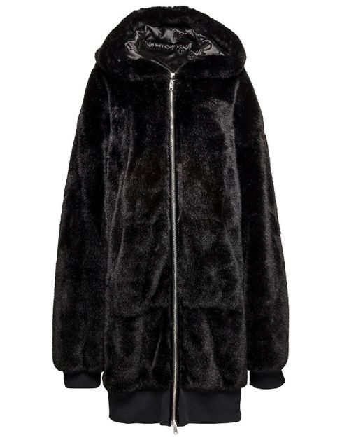 Fenty x Puma faux fur oversized bomber jacket as seen on Rihanna