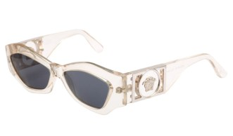 Versace vintage 421b clear frame sunglasses as seen on Rihanna