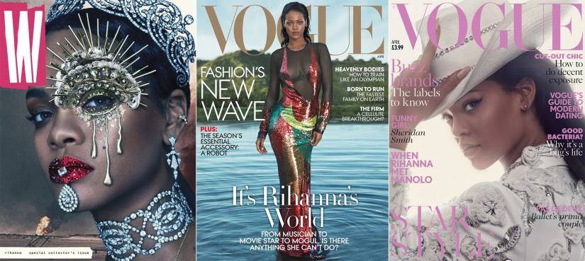 Rihanna best magazine covers 2016 w magazine vogue