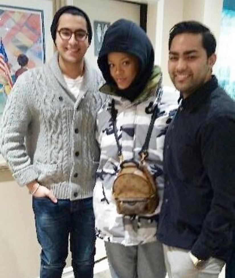 Rihanna Vetements Canada Goose camo parka jacket reversible Macmillan, Louis Vuitton Palm Springs Mini backpack in Monogram Reverse