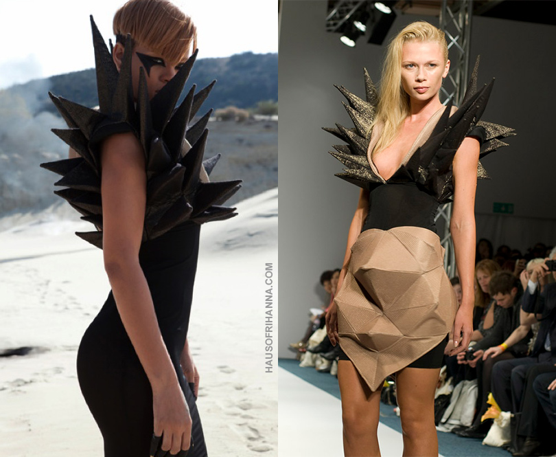 Rihanna Hard video Bryce D'Anice Aime Spring 2010 spike dress