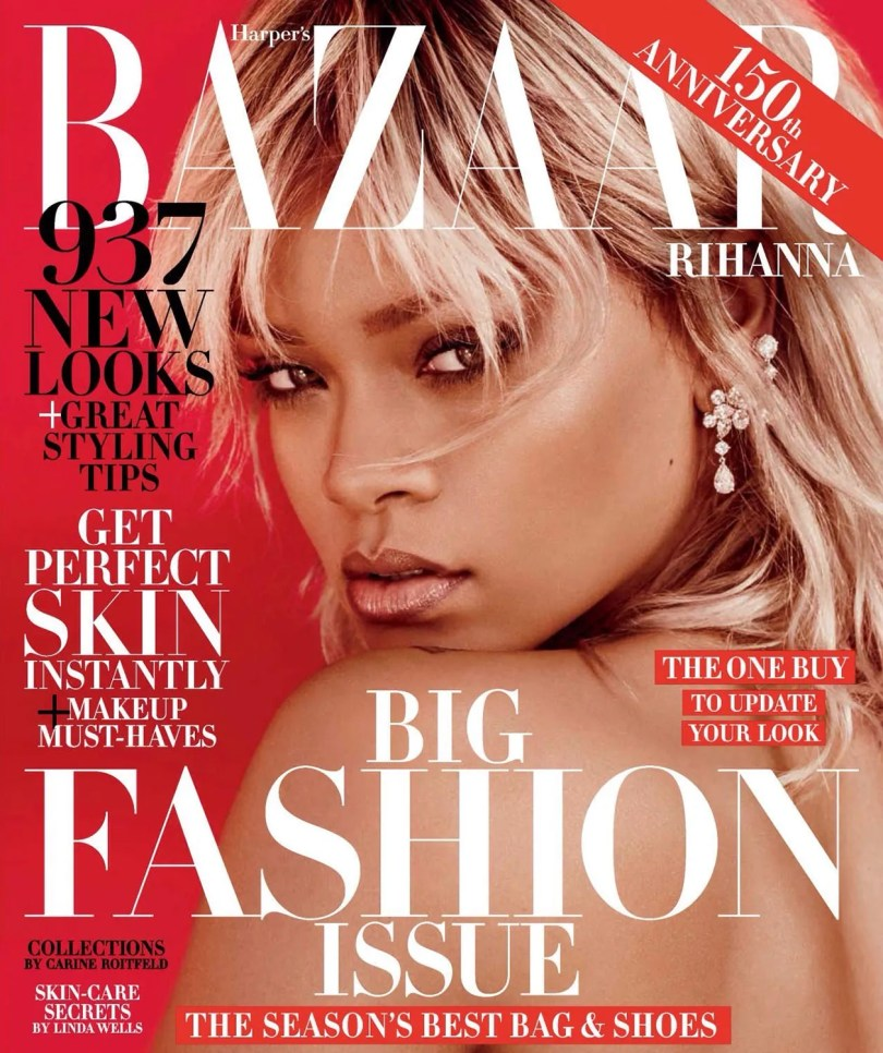 Rihanna Harpers Bazaar magazine cover March 2017