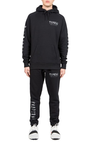 Trapstar Decoded camo logo sweatsuit as seen on Rihanna
