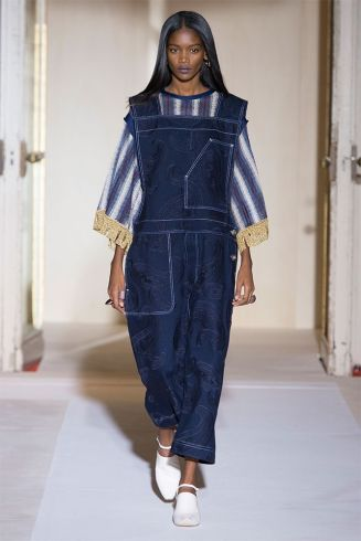 Acne Studios Spring 2017 denim overalls as seen on Rihanna
