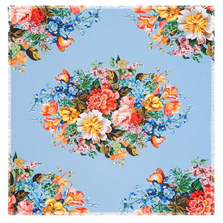 Gucci blue floral print scarf