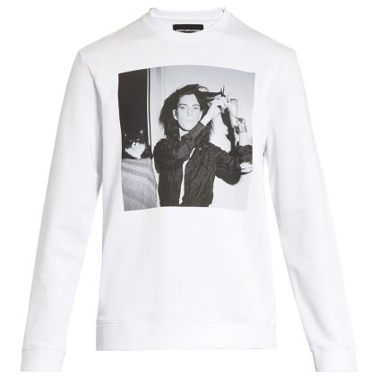 Raf Simons Patti Smith sweatshirt as seen on Rihanna