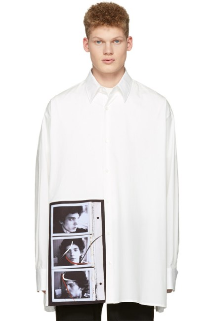 Raf Simons Robert Mapplethorpe self portrait photo shirt as seen on Rihanna