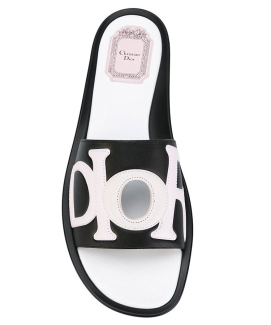 Dior Marina slide sandals as seen on Rihanna