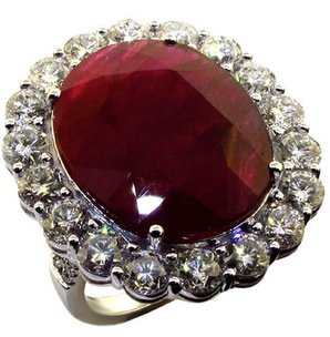 Dvani ruby and white diamond ring as seen on Rihanna