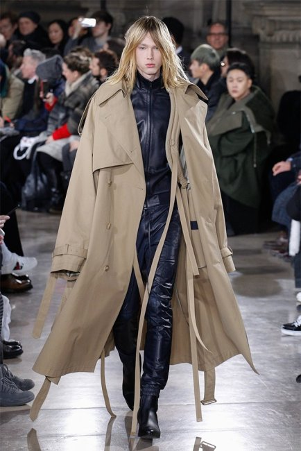 Juun J Fall 2017 menswear trench coat as seen on Rihanna