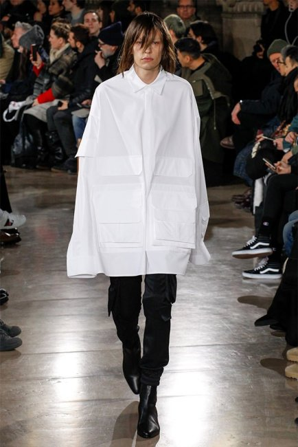 Juun.J Fall 2017 menswear oversized white shirt as seen on Rihanna