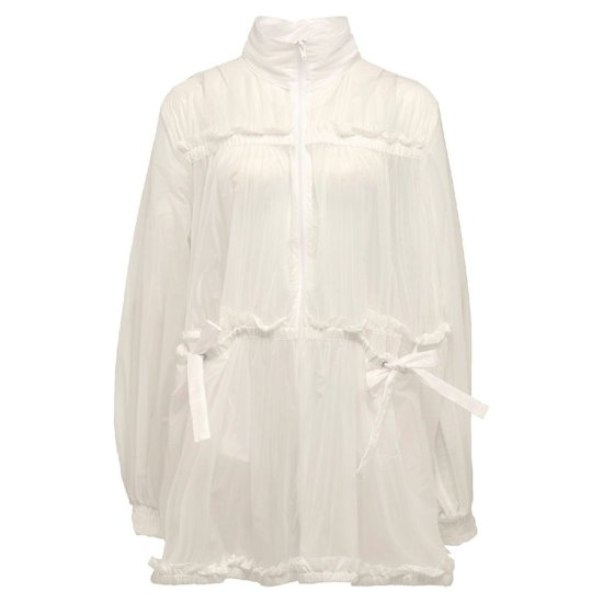 Fenty Puma tiered jacket in vanilla ice as seen on Rihanna