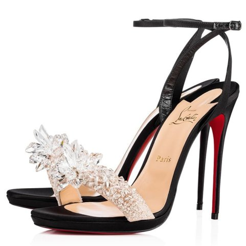 Christian Louboutin Crystal Queen embellished sandals as seen on Rihanna