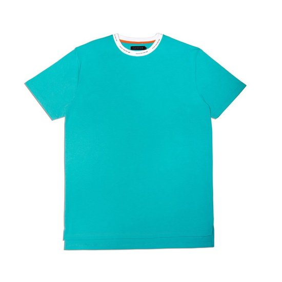 Atelier New Regime Fuck You Pay Me teal blue t-shirt as seen on Rihanna