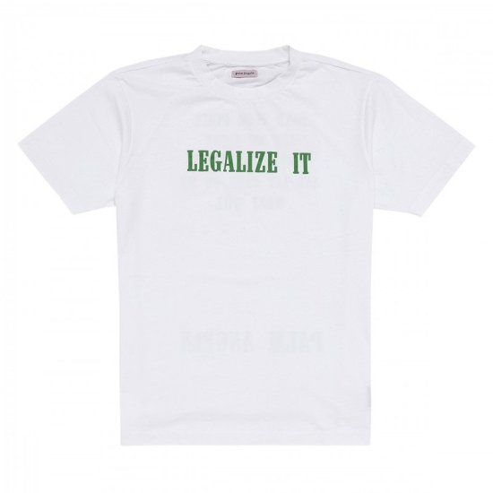 Palm Angels Legalize it white t-shirt as seen on Rihanna