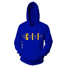 Clara Lionel Foundation blue pullover sweatshirt