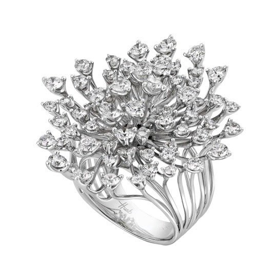Hueb diamond cluster ring as seen on Rihanna