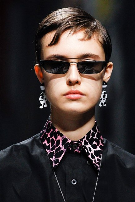 Prada Spring 2018 black sunglasses as seen on Rihana