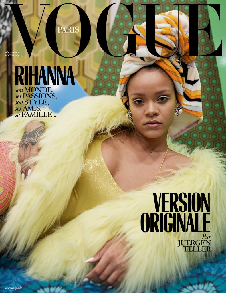 Rihanna Vogue Paris magazine cover shot by Juergen Teller