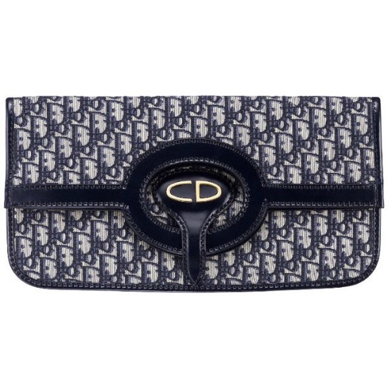 Dior Oblique monogram canvas clutch as seen on Rihanna