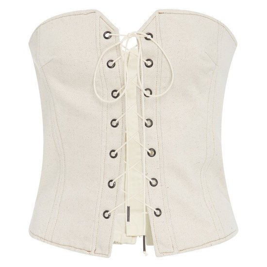 Isabel Marant Pryam lace-up corset top as seen on Rihanna